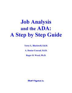 The Rehabilitation ConsultantS Handbook  Publications