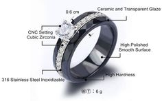 Platinum Plated Ceramic Ring