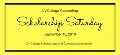 This edition of Scholarship Saturday features 24 college scholarships and…