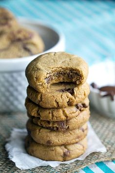 Nutella Stuffed Peanut Butter Cookies - This Gal Cooks. Soft, homemade peanut butter cookies are stuffed with creamy nutella. #dessert