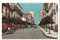 Vintage Postcard Algeria Constantine Boulevard Victor Hugo Editor Jomone 315