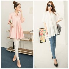 Fashion Stand-up Collar Circular Hem Solid Color Half Sleeves Loose Large Size Women Long Shirt