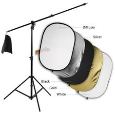 "Well built stand. Appears to be the same item National Camera sells for over $120 and they don't include the reflector or the clips if memory serves.  Fotodiox Pro Ultra Reflector Kit - 48x72"" 5-in-1 Collapsible Disc + 3-in-1 Heavy Duty Boom Stand Fotodiox,http://www.amazon.com/dp/B008BBRVQ6/ref=cm_sw_r_pi_dp_2E3itb0RMJHQW5NM"