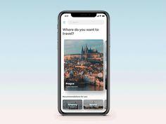 Travel app concept Parallax Interaction by HongSeon Kim Best Ui Design, Ios App Design, Mobile Ui Design, Interface Design, Design Design, Motion Design, Design Thinking, Web Design Studio, Ui Design Inspiration