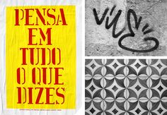 Series of four posters using traditional Portugeuse phrases and vernacular typography.<br /> Commissioned by the British Council / Experimenta, Lisbon Little Big Band, Anthony Burrill, Think Before You Speak, British Council, Typography Layout, Sense Of Place, Lorem Ipsum, Sentences, Playroom