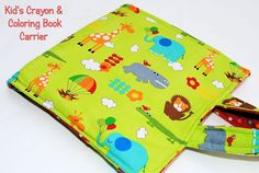 Kids Crayon & Coloring Book Carrier -ANOTHER christmas pressie.  Heck, running out of time here.  But not running out of fabric!