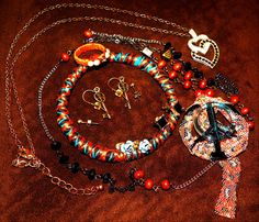 JEWELRY LOT NEW USED .99 cents VINTAGE HANDMADE 5 #1928andothers