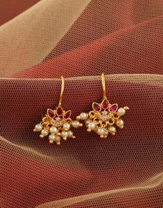 Pink Colour Gold Finish Marathi Bugadi Earring Nose Ring Jewelry, Jewelry Design Earrings, Gold Earrings Designs, Gold Jewellery Design, Indian Jewelry Sets, Silver Jewellery Indian, Silver Jewelry, Gold Mangalsutra Designs, Antique Jewellery Designs