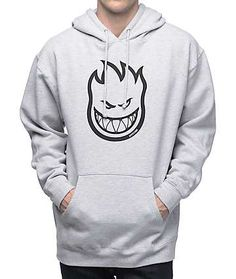 Spitfire Bighead Heather Grey & Black Hoodie