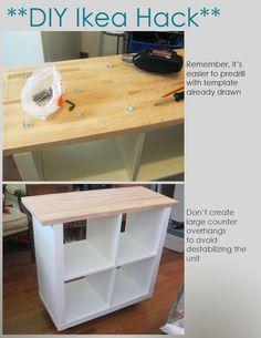 DIY Ikea Hack   Kitchen Island Tutorial   Construction 2