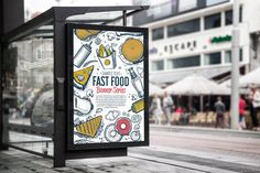 Fast food hand drawn set by Alfazet Chronicles on @creativemarket