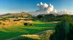Gleneagles Dare, the 2nd fairway on the Ryder Cup course leading into the glen beyond