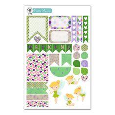 Tinkerbell Weekly Layout Planner Sticker Sampler