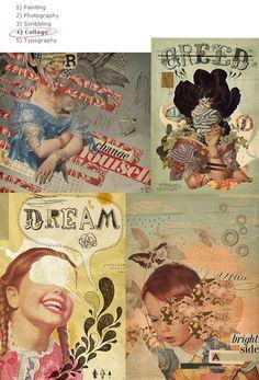 """Clockwise: """"change"""", """"greed"""", """"brightside"""", """"dream"""", and """"hope"""" © Eduardo Recife"""
