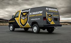 #HVAC truckwrapping at its finest! See the full brand development for this company: http://graphicd-signs.com/work/ac-daughtry-security-systems/