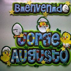 #foami #gomaeva #nombres #habitacion #deco #decoracion #pollito #niños  #baby