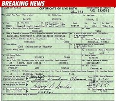 President Obama's Long Form Birth Certificate