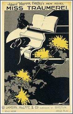 """Ethel Reed (1874-1912), Affiche, """"Miss Träumerei"""" - 1895"""