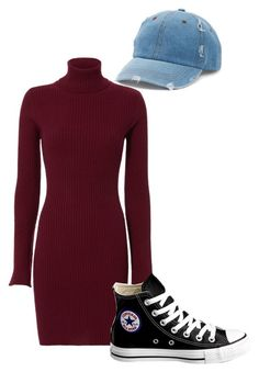 """""""I'm The One Who Gripped You Tight and Raised You from Perdition"""" by that-little-black-dress ❤ liked on Polyvore featuring Autumn Cashmere, Converse and Mudd"""