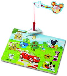 Amazon.com: Mickey Mouse Clubhouse Hide and Seek Wooden Magnetic Game: Melissa & Doug: Toys & Games