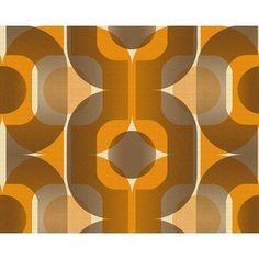 Danke Retro 70's Celebration Orange Wallpaper by AS Creation 95528-1