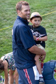 TB12 and his son Benjamin