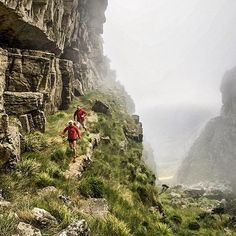 Welcome to #RunnerLand  #Photo @landiegreyling  In 8 days time christiaangrey and I will face our biggest trail running challenge to date... the Goretex Transalpine run. 8 days 3 countries two runners one dream! If it doesn't challenge you it doesn't change you...