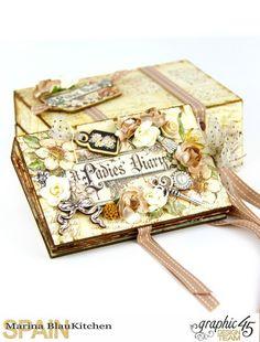 Hoy mismo en el blog de Graphic 45 presento el mini álbum y su pequeña caja realizados con la reedición de la colección A Ladies' Diary. El pack contiene dos hojas de cada diseño, así como pe…