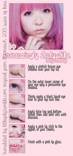 Increasingly Lady-Like Daily Makeup Tutorial form the March 2013 issue of Kera.