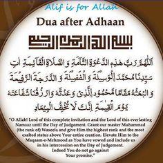 Dua antes del Adhan
