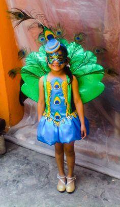 Disfraz pavo real, niña, costume Manos creativas Gt búscanos en Fb