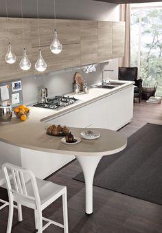 Model Tokyo - Two-colour minimal modern kitchen Loft Kitchen, Kitchen Room Design, Modern Kitchen Cabinets, Apartment Kitchen, Modern Kitchen Design, Home Decor Kitchen, Küchen Design, Home Renovation, Kitchen Remodel