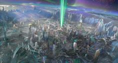 concept art for Guardians planet Oa