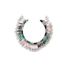 Isabel Marant Ska beaded choker (34,795 INR) ❤ liked on Polyvore featuring jewelry, necklaces, fringe necklaces, isabel marant necklace, beading necklaces, beads jewellery and beaded fringe necklace