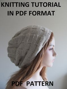 DIY: Digital PDF Knitting Pattern Instant Download Slouchy by Lacywork, $3.50