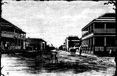 1885 Richmond Street, Maryborough. Customs House Hotel on the left.