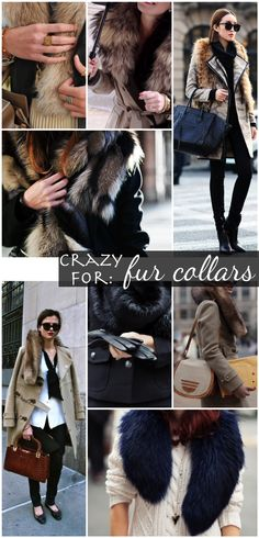 Loving the Old Hollywood glamorous look of fur collars and stoles.
