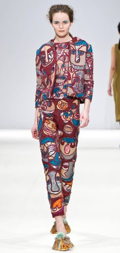 Leutton Postle Autumn Winter 2012 - bold, vibrant kind of woman that would wear this too??