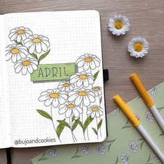 Are you looking for the best bullet journal ideas for April? Here are the latest and best bullet journal covers for April. Journal D'inspiration, April Bullet Journal, Bullet Journal Cover Ideas, Bullet Journal Notebook, Bullet Journal School, Bullet Journal Spread, Bullet Journal Layout, Bullet Journal Inspiration, Journal Challenge