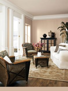 Add interest to your living room with a fresh paint color. Browse our living room color inspiration gallery to find living room ideas & paint colors. Beach House Living Room, Room Colors, Home And Living, Living Room Decor, Home, Condo Living Room, Living Room Color Inspiration, Room Paint Colors, Living Room Designs