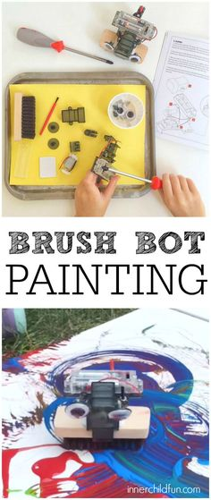 Brush Bot Painting! -- this looks like so much fun!!