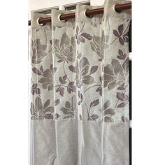 Lavender N Silver Floral Leaves Curtain Panels by TheHomeCentric, $128.00
