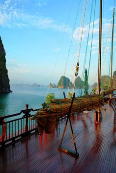 The Red Dragon boat goes to a different group of islands, including parts of a fishing village and a pearl farm. The swim in the waters of Halong Bay is magical.