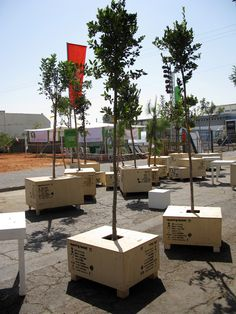 Pocket Park: Roaming Forest, Bat-Yam, Israel for the Landscape Urbanism Biennale (by Project Studio (Ed Wall), Yael Bar Maor, and Mike Dring) Landscape And Urbanism, Urban Landscape, Landscape Design, Forest Landscape, Urban Furniture, Street Furniture, Off Grid, Urban Ideas, Urban Intervention