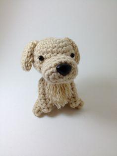 Golden Retriever Amigurumi Stuffed Animal Handmade Crochet Puppy Plush Doll  / Made to Order