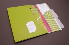 This delegates' pack for an East London business matching service was designed by Phage to be as environmentally sound as possible, made from 100% post-consumer recycled materials and using biodegradable cellulose laminate and no glued edges.