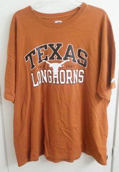 Texas Longhorns T-Shirt Adult XXL XX-Large University of Texas  #Russell #TexasLonghorns