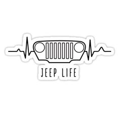 """JEEP LIFE (white)"" Stickers by oldskooldesign 