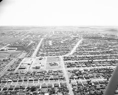 1954 Westcliff Neighborhood: view looking south; Trail Lake Drive is curved road running south. Photo Scan, Across The Border, Road Running, Raider Nation, Interesting History, Fort Worth, Family Photos, Houston, City Photo