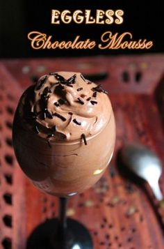 10 Minute Eggless Chocolate Mousse